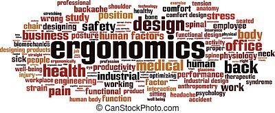 Ergonomics-horizon - Ergonomics word cloud concept. Vector ...
