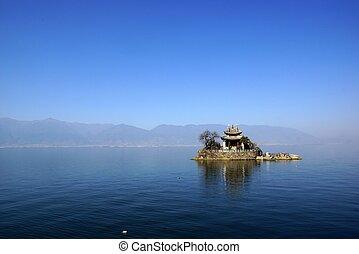 Erhai Lake, Dali, Yunnan province, China - Erhai Lake near...