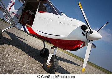 erholung, motorflugzeug