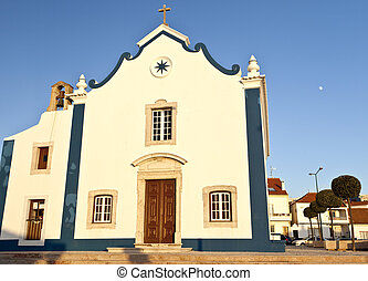 Ericeira Parish Church at sunset and with space for comments...