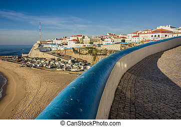 Ericeira Scenic - General view of Ericeira beach and houses ...
