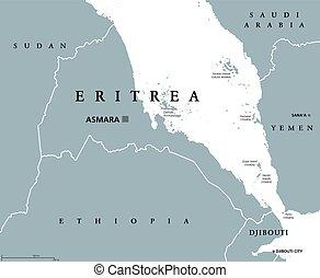 eritrea, 政治的である, 地図