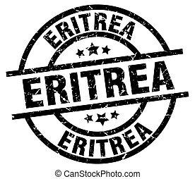 Eritrea black round grunge stamp