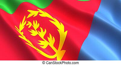 Eritrea flag 3d