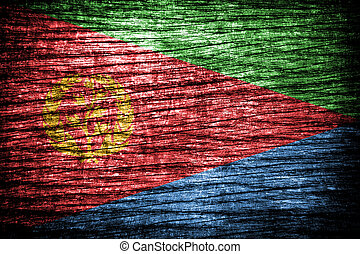 Eritrea Flag on old wood background