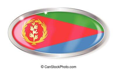 Eritrea Flag Oval Button