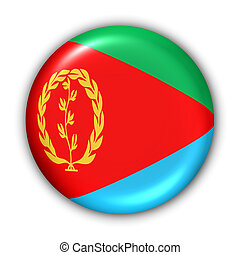 World Flag Button Series - Africa - Eritrea (With Clipping Path)