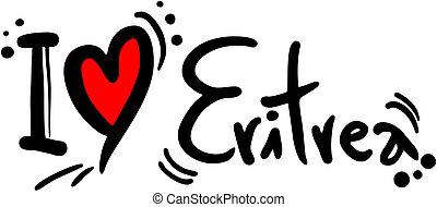 Eritrea love - Creative design of eritrea love