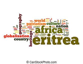 eritrea, palabra, nube
