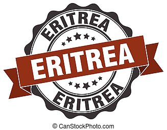 Eritrea round ribbon seal