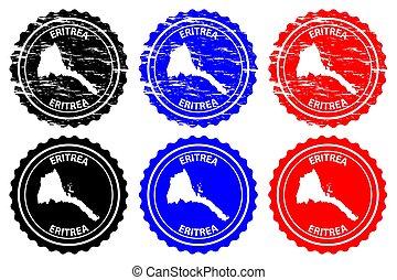 Eritrea - rubber stamp - vector, State of Eritrea map...