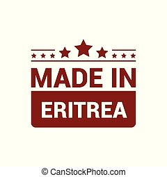 Eritrea stamp design vector