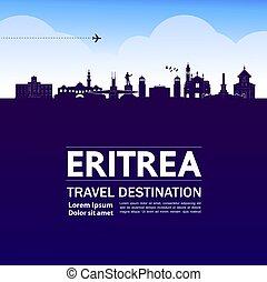 Eritrea travel destination grand vector illustration.