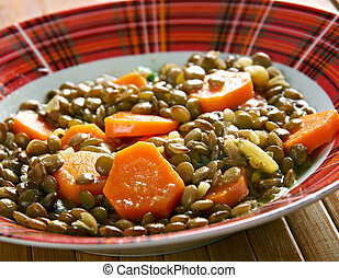 Eritrean Lentil Stew - Wat. close up