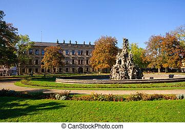 Erlangen, Germany in Autumn - Schloss garten in autumn in...
