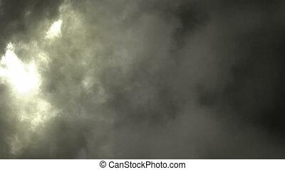 erleichterung, sturm, in, wolkenhimmel