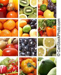 ernæring, collage