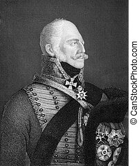 Ernest Augustus I of Hanover (1771-1851) on engraving from ...