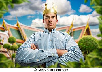 ernst, krone, mann