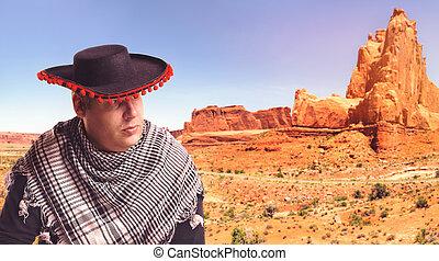 ernst, mann, sombrero
