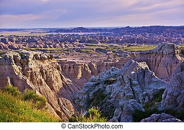 Eroded Badlands Scenery