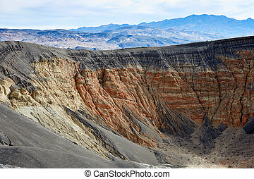 Eroded mountains slopes in Death Valley