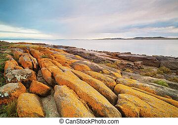 Eroded Rocky Coastline