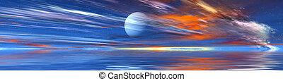 Erodia Panorama - Fantastic Scifi scenery, 3d rendered....