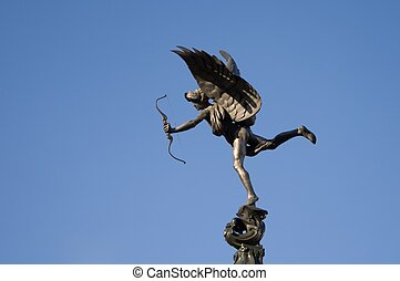 Eros (Anteros) - Statue in Picadilly Circus in London