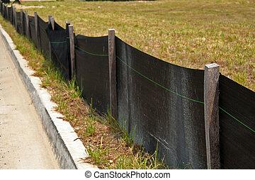 erosión, control, barrera