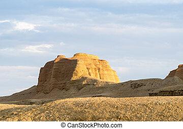 erosión, primer plano, landform, viento