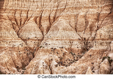 Erosion In South Dakota Badlands