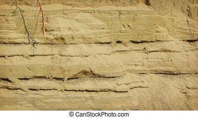 Erosion of sandy soil. Video UltraHD