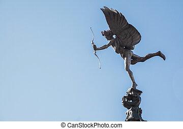 erosz, ámor, szobor, london