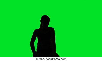 Erotic dancing woman