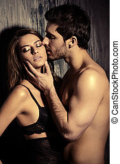 erotic relations - Beautiful passionate couple of young...