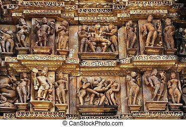 Erotic Sculptures,Khajuraho,India