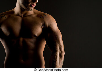 erotic - well trained man with perfect body
