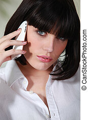 erotický, eny mluvil oproti telefonovat