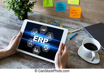 erp, 기업, automation., 자원, 과정, planning., system., 사업