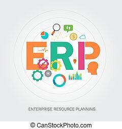 erp, 기업, reource, 계획