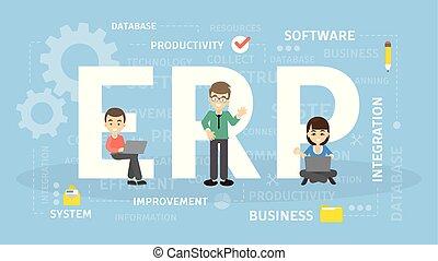 ERP concept illustration.