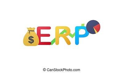 ERP, enterprise resource planning. Productivity and improvement. Motion graphics.