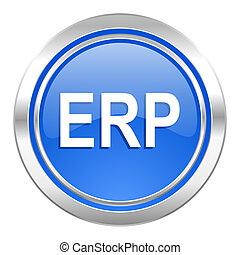 erp icon, blue button