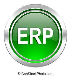 erp icon, green button