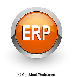 erp orange glossy web icon
