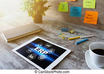 erp, system., 기업, 자원, planning., 사업, 과정, automation.