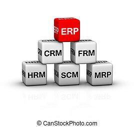 ERP System illustration - ERP (Enterprise Resource Planning)...