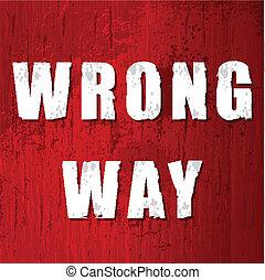 errado, antigas, maneira, sinal