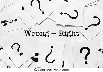 errado, -, direita, conceito